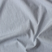 Narrow Striped Japanese Cotton Shirting - Charcoal/White | Blackbird Fabrics
