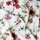 Wildflower Viscose Poplin - White/Pink/Green/Yellow | Blackbird Fabrics