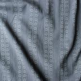 Tribal Woven Japanese Cotton Shirting - Blue Grey | Blackbird Fabrics