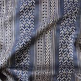 Tribal Woven Japanese Cotton Shirting - Navy/Gold | Blackbird Fabrics