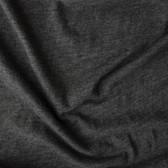 Slubby Organic Cotton & Bamboo Knit - Charcoal Heathered Grey | Blackbird Fabrics