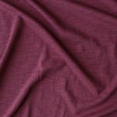 Slubby Organic Cotton & Bamboo Knit - Maroon | Blackbird Fabrics