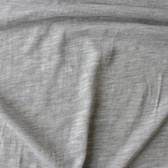 Slubby Organic Cotton & Bamboo Knit - Light Heathered Grey | Blackbird Fabrics