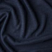 Slubby Organic Cotton & Bamboo Knit - Marine | Blackbird Fabrics