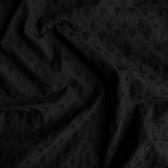 Embroidered Cotton Voile - Black | Blackbird Fabrics
