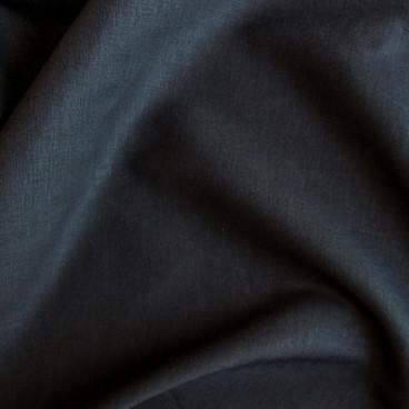 Stretch Linen Viscose - Black   Blackbird Fabrics