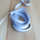 "3/8"" (9mm) Plush Back Elastic - Cloud Blue - 1 meter"