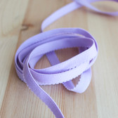 "3/8"" (9mm) Plush Back Elastic - Pale Orchid - 1 meter"
