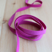 "3/8"" (9mm) Plush Back Elastic - Hot Pink - 1 meter"