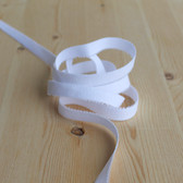 "1/2"" (12mm) Plush Back Elastic - White - 1 meter"