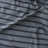 Bamboo & Cotton Striped Jersey Knit - Heather Charcoal/Black | Blackbird Fabrics