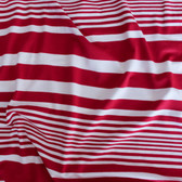 Irregular Stripe Rayon Jersey - Red/White | Blackbird Fabrics