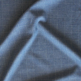 Check Cotton Shirting - Blue/Grey | Blackbird Fabrics