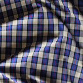 Plaid Japanese Cotton Poplin - Blue/Tan/Red | Blackbird Fabrics