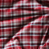 Plaid Japanese Cotton Twill Shirting - Red/White/Blue  | Blackbird Fabrics