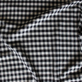 Small Gingham Japanese Lightweight Cotton Flannel - Black/Ivory | Blackbird Fabrics