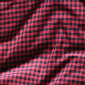 Small Gingham Japanese Lightweight Cotton Flannel - Black/Red | Blackbird Fabrics
