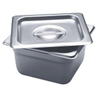 "Stainless Steel Square Firing Pan with Lid, 4""D 