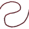 "Garnet 5mm Faceted Button Bead 8"" Natural 