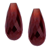 Garnet 12 x 6mm Teardrop Briolette Natural |Sold by Each| 90186