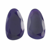 Purple Chalcedony 22 x 13mm Pear Cabochon Slices,  Dyed Natural |Sold by Pair | 79534