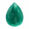 Green Onyx 18 x 13mm Pear Cabochon,  Dyed Natural |Sold by Each | 73704