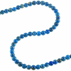 Denim Lapis 5mm Round Bead 6"