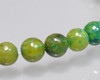 """Round Green Marble Quartz Beads 4mm 