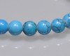 "Round Turquoise Blue Beads 4mm | Sold by 1 Strand(7.5"") 