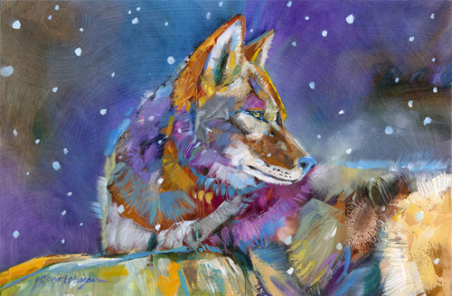 Warm Breath on a Wintery Night - Original - Sold