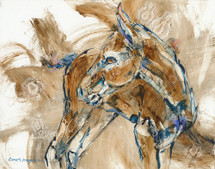 Tinker bell's Tail study foal painting