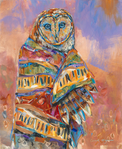 Owl Shaman 4 bird painting