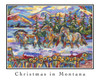 Christmas in Montana 2015 - Lithograph Image