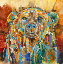 Big Chief bear oil painting