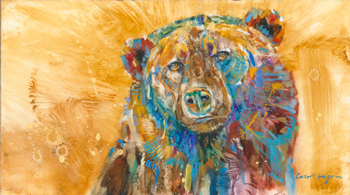 Golden Bear oil painting