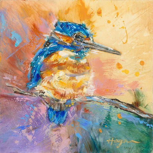 Baby Kingfisher 23 painting