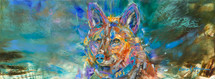 Spring Coyote original oil