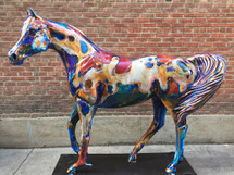 """Paint Horse Spirit"" life sized horse"
