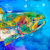 """Wet Rainbow"" print on metal by Carol Hagan."