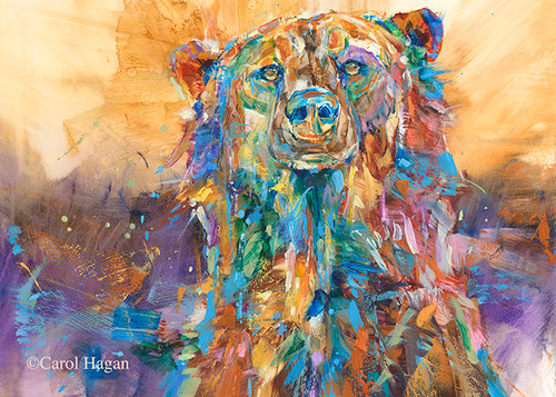 """Hot Mama"" print on metal by Carol Hagan."