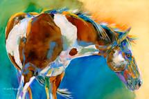 """Pretty Paint"" print on metal by Carol Hagan."