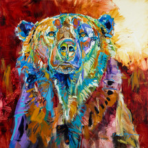 Mama Bear original oil painting