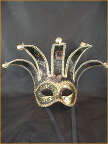 Venetian mask Colombina Jolly Brocade