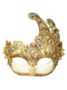 Authentic Venetian mask Colombina Fuoco Mac Craquele