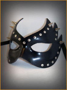 Venetian leather mask Colombina Fiamma Graz