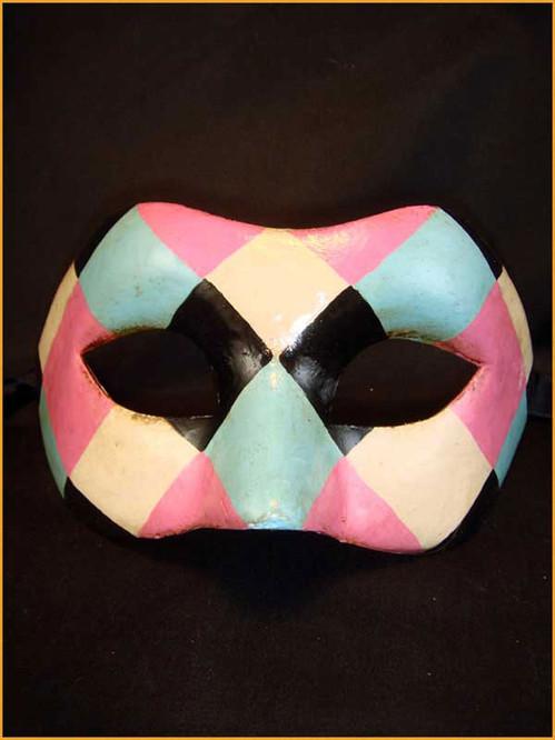 Venetian mask Colombina Arlecchina Colore