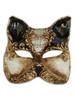 Authentic Venetian Mask Gatto Arabesque