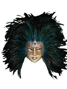 Venetian feathered mask Volto Piume Mac
