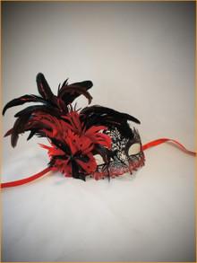 Venetian mask Colombina Ira Piume
