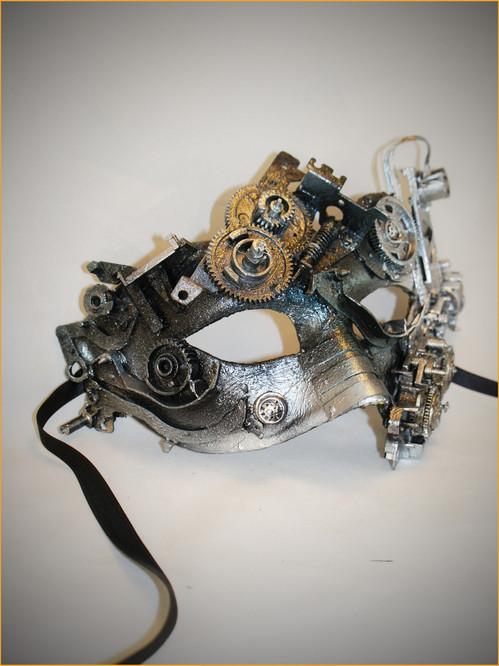 Venetian metal mask Colombina Psycorg